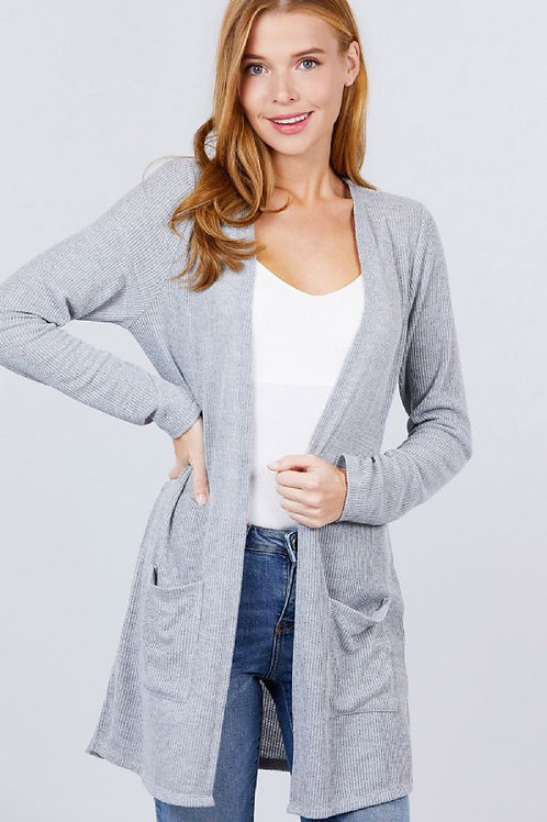 Autumn Breeze Cardigan - H. Grey