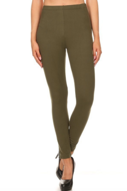 Lounge With Me Leggings - Olive