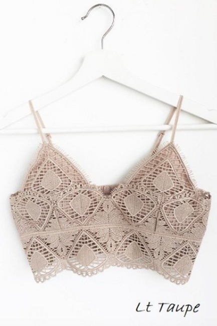 Daphne Lace Bralette - Taupe