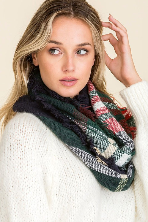 Wind Chill Scarf - Forest Green Mix