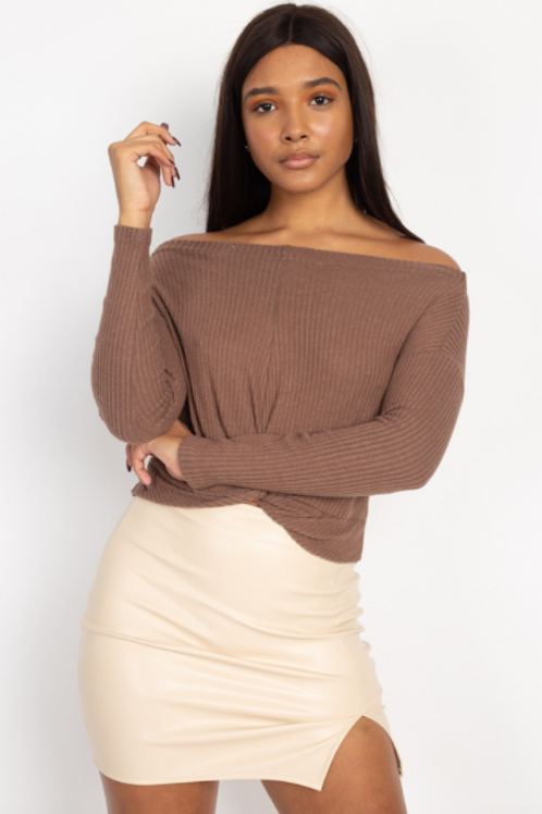 The Easy Does It Top - Mocha