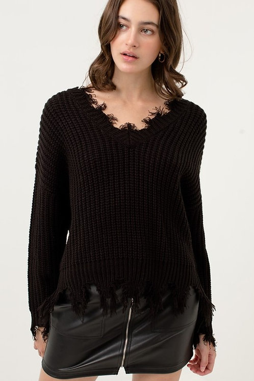 The Cozy Cool Sweater - Black
