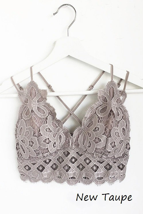 Wild At Heart Bralette - New Taupe