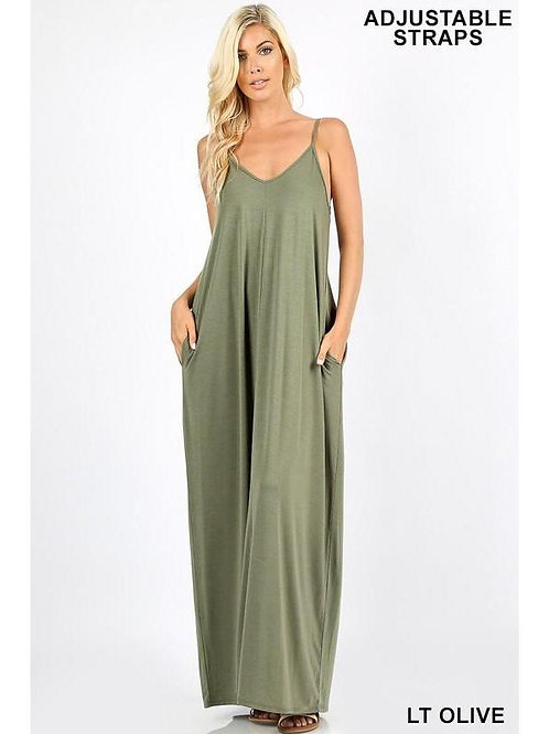 Sweetheart Maxi - Light Olive