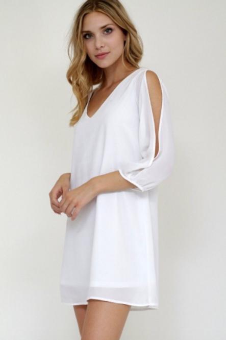 Holiday Cheer Dress - White