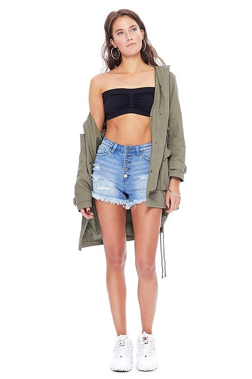 Surprised By You Denim Shorts