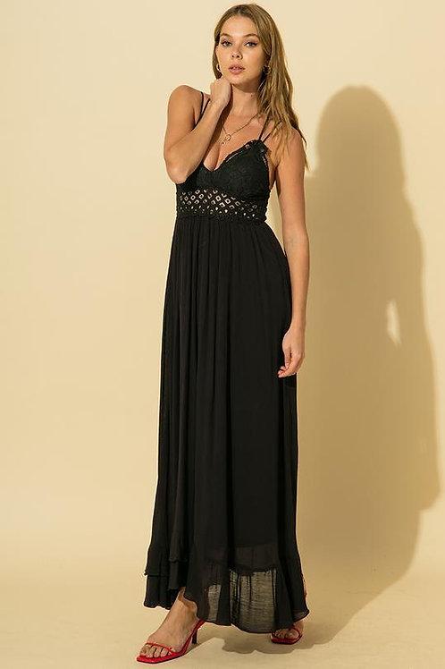 Wild At Heart Maxi Dress - Black