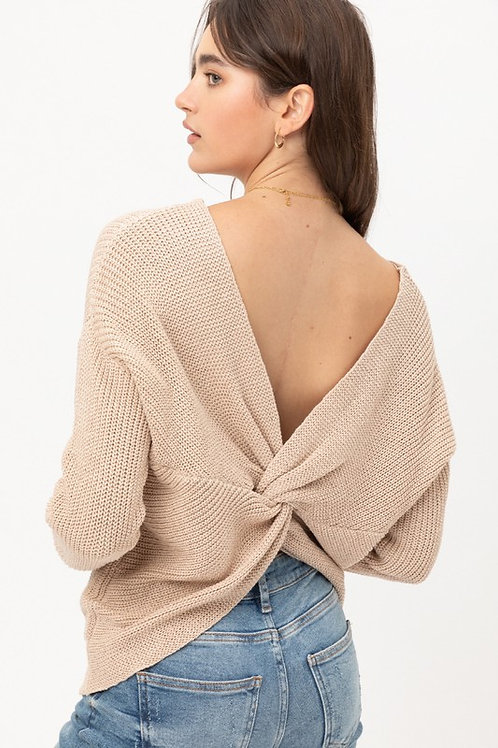 A Sparkly Night Sweater - Tan
