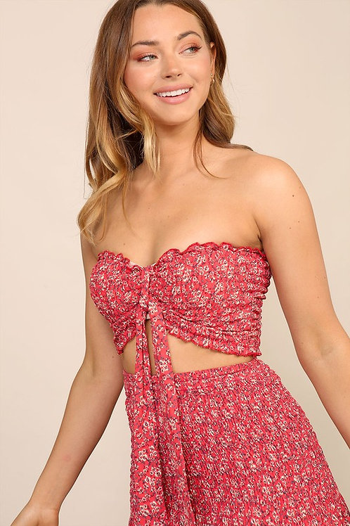 The Lake House Crop Top - Coral