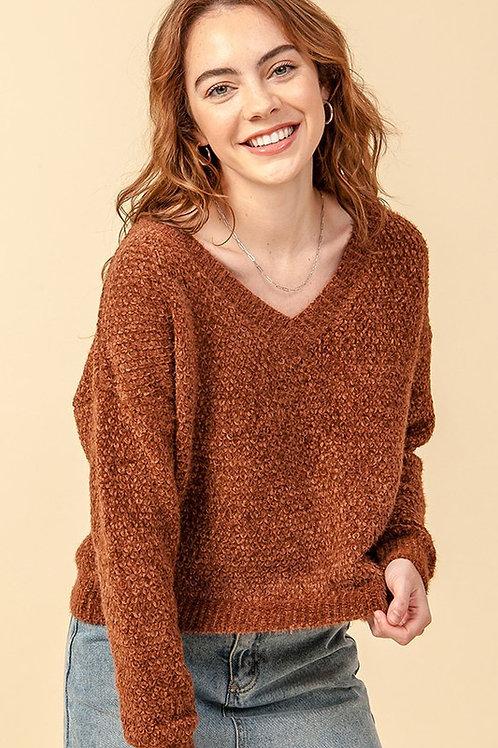The Nashville Chenille Sweater - Hazelnut