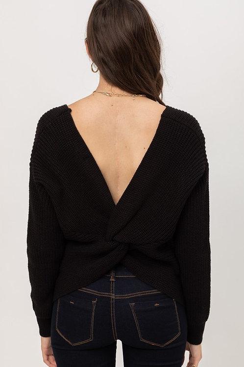Love Me Knot Sweater - Black