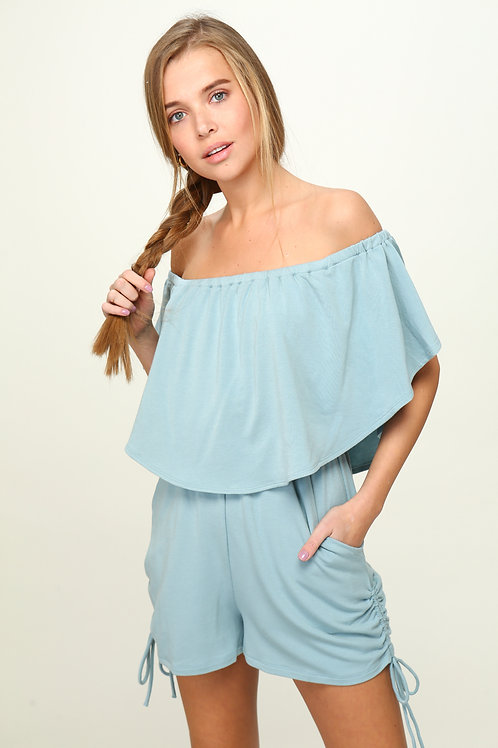 Chasing Sunsets Romper - Blue