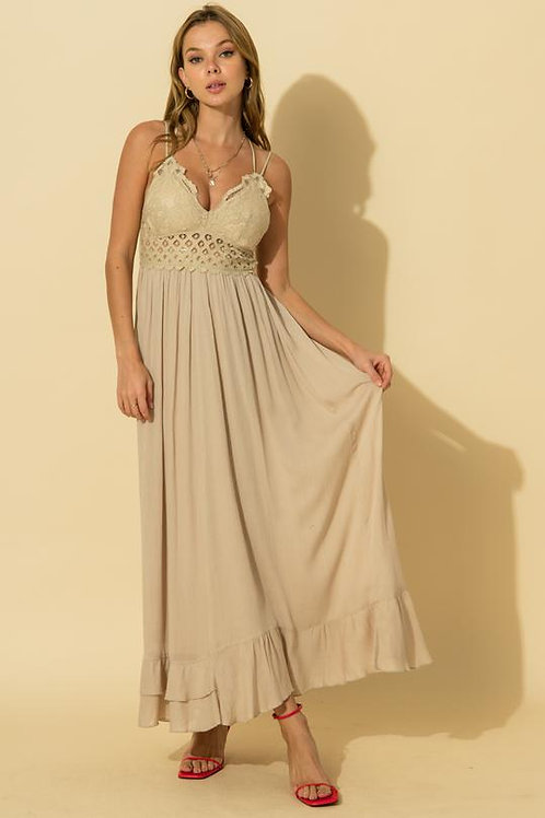 Wild At Heart Maxi Dress - Taupe