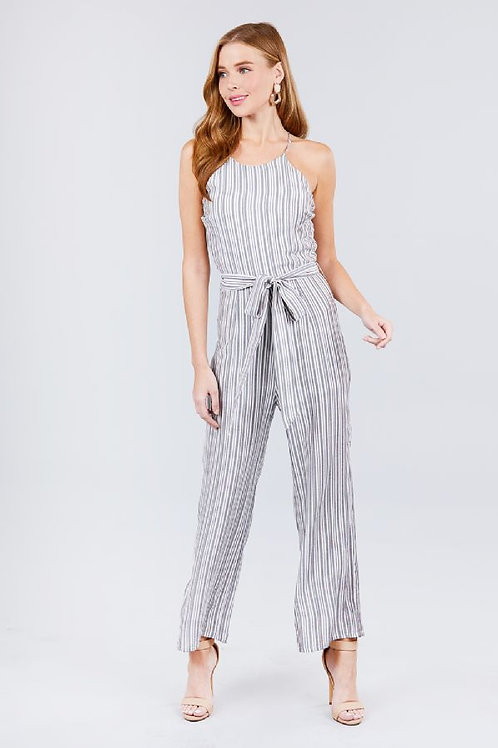 By The Bay Jumpsuit - Black/White