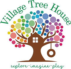 Village Tree House logo child play space for indoor play and parties in Hoboken NJ