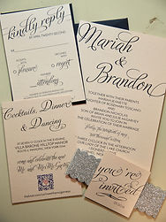 Custom wedding invitations, seating charts, centerpieces and DIY kits
