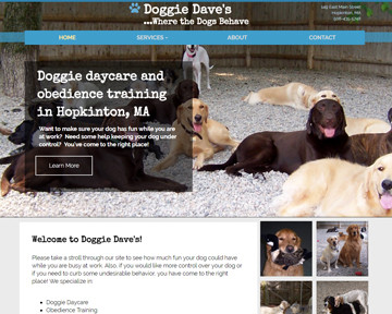 Blue Heron launches new website for Doggie Dave's in Hopkinton, MA