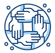 Partnership icon with hands