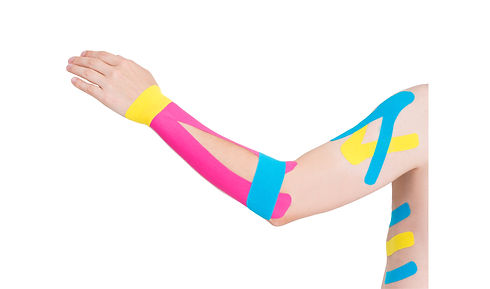 Therapy treatments include Kinesio and Leuko taping
