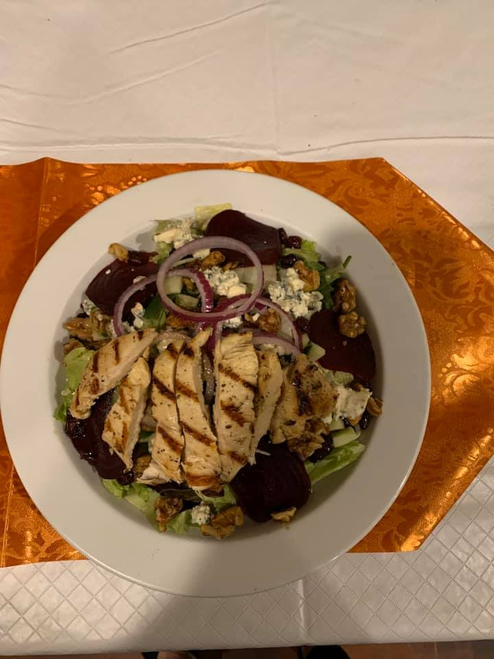 Crisp Chicken Beet Salad