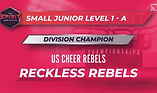 US Cheer Reckless Rebels division champs