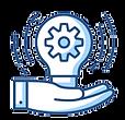 Hand holding lightbulb with gear - Custom Solutions
