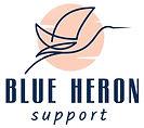 Blue Heron Support websites and branding logo