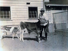 Charles Beebe on the Farm