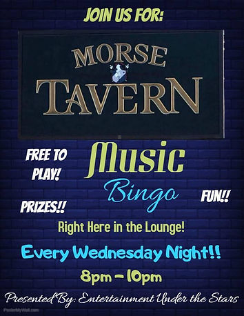 Music Bingo Wednesday Nights
