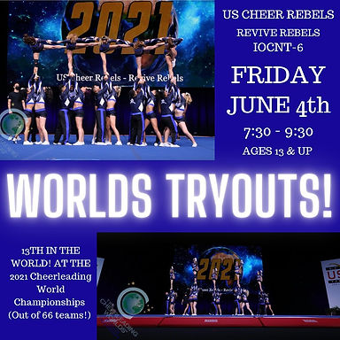 6-4-21 US Cheer Rebels worlds tryouts