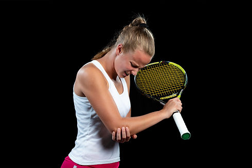Conditions treated include tennis elbow