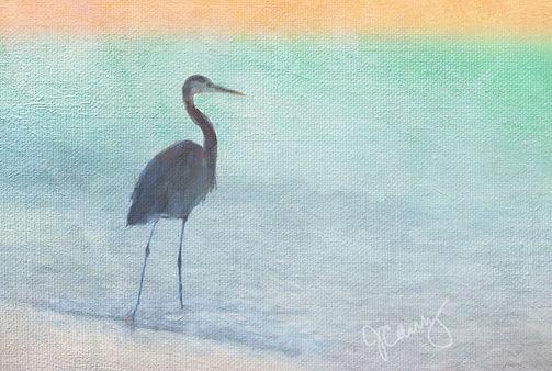 Heron Art by Jayne