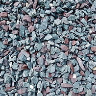 Red and Blue Stone for Landscaping