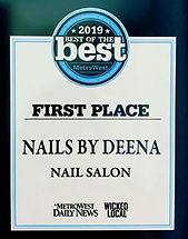 Voted best nail salon in Metrowest