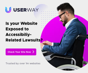 Man in wheelchair indicating a disability for ADA website compliance