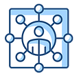 Person with Connections Icon - Selection of Partners