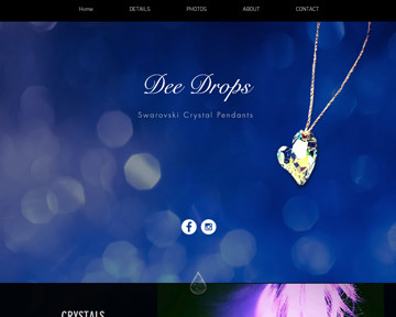 Blue Heron launches a new website for Dee Drops Swarovski crystal pendants!