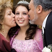 Parents with daughter at Quinceanera unique song angel in my arms