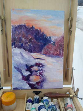 Пленэр на реке Катен