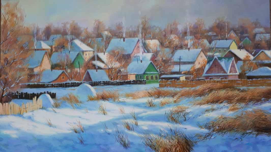 Морозное утро хм  50×85.jpg