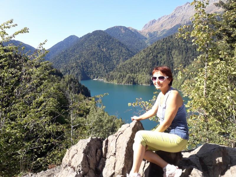"""Вот оно легендарное озеро """"Рица"""""""