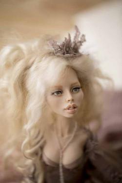кукла ОЛана Полимерная глина, шёлк, шерсть 2018 г (3)