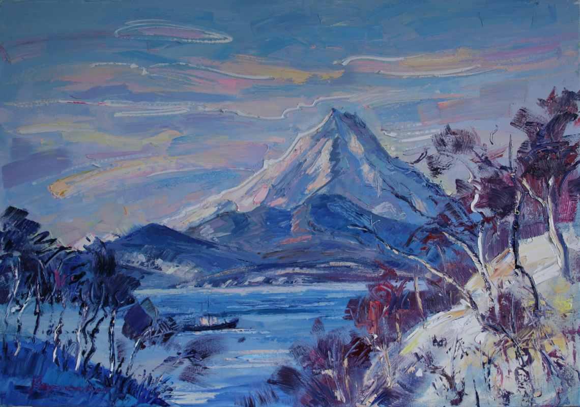 Камчатка зимой. 70х100. х.м. 2016
