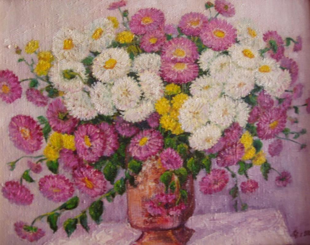 Хризантемы 50х40 х.м. 2001