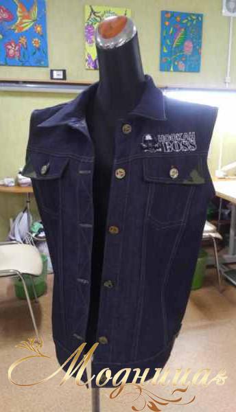 Жилетка для работника бара Hukah Boss.jp