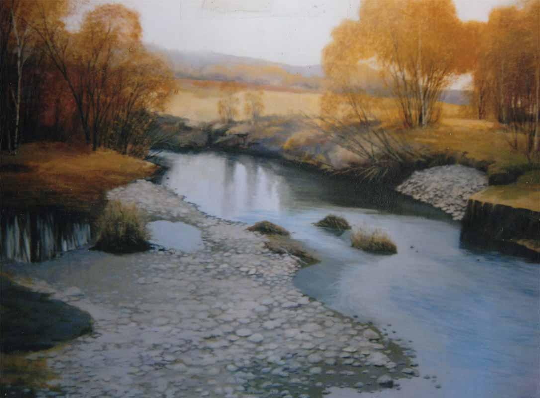 Река Бычиха х.м. 200х300