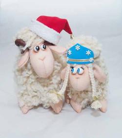 Новогодние Барашек и овечка