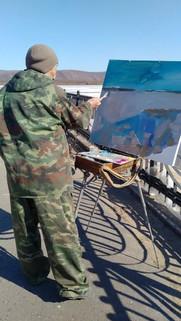 Этюд на набережной Комсомольска