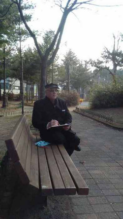 Наброски а парке Кореи (1)