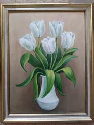 Тюльпаны. 40х30 х.,м. 2021